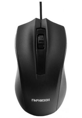 Мышь Гарнизон GM-115, Black, USB, 800 dpi, 2кн.+колесо-кнопка