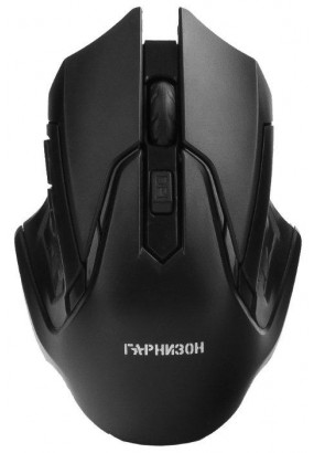 Мышь беспров. Гарнизон GMW-425,  Black, 1600 dpi, 3 кн.+ колесо-кнопка, блистер
