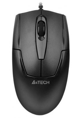Мышь A4 V-Track Padless OP-540NU Black, оптическая,1000dpi, 2кн, USB