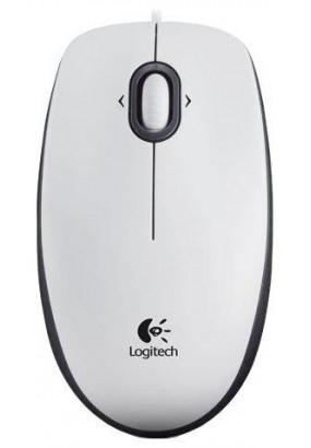 Мышь Logitech M100 White, USB, оптическая, проводная (910-005004)