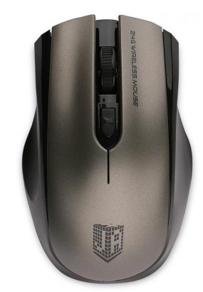 Мышь беспровод. Jet.A Comfort OM-U50G Gray (800/1200/1600dpi, 3 кнопки, USB)