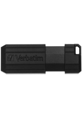 Flash Drive 16G USB 2.0 Verbatim Pin Stripe Black (49063)