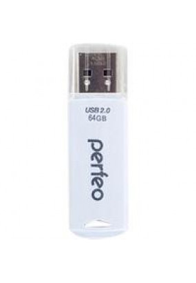 Flash Drive 4GB USB 2.0 Perfeo C06 White (PF-C06W004)