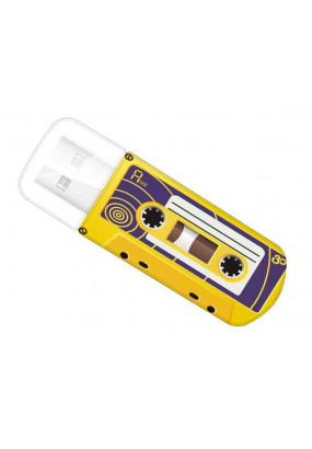 Flash Drive 16G USB 2.0 Verbatim Mini Cassette Edition Yellow (49399)