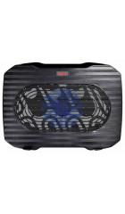 "Подставка для ноутбука до 15,6"" Buro BU-LCP156-B114 Black, вентилятор: 140 мм, поток: 74.35 CFM, уровень шума: 20 dB(A), сквозной USB-разъём, LED подсветка, регулировка наклона, материал: металл, пластик"