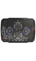 """Подставка для ноутбука до 15,6"""" Buro BU-LCP156-B208 Black, 2 вентилятора: 80 мм, поток: 78.35 CFM, уровень шума: 23 dB(A), 2 х USB-разъёма, LED подсветка, регулировка наклона, материал: металл, пластик"""