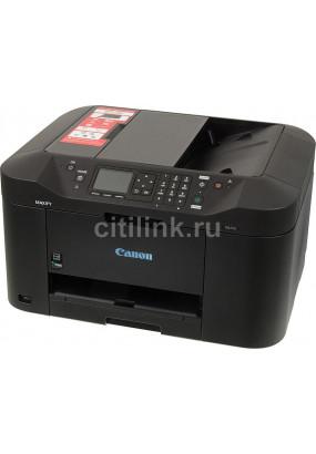 МФУ CANON MAXIFY MB2140 принтер/сканер/копир/факс, A4, струйный, печать цветная, двусторонняя, 4-цветная, 19 изобр./мин ч/б, 13 изобр./мин цветн., 1200x600 dpi, подача: 250 лист., USB, Wi-Fi, картридер, печать фотографий, цветной ЖК-дисплей