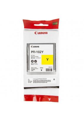 Картридж PFI-102Y Yellow для Canon imagePROGRAF iPF510, iPF605, iPF610, iPF650, iPF655, iPF710, iPF750, iPF755 130мл (0898B001)
