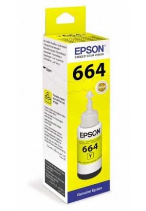 Чернила Epson L100/110/200/210/300/355/550/555 (O) C13T66444A, Yellow, 70ml