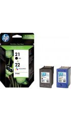 Cart. HP  (набор №21+№22) Black+Color для hp DJ 3920 / 3940 / D1360 / D2360 / F380, OJ 4355, PSC 1410