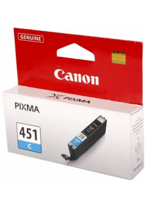 Картридж CLI-451C 6524B001 голубой для Canon Pixma iP7240/MG6340/MG5440
