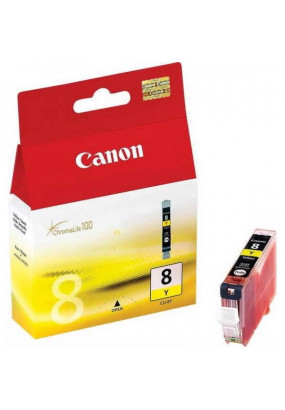 Картридж CLI-8Y Yellow для Canon IP-4200/5200/6600D/MP500/800 (0623B024)