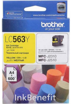 Картридж LC563 жёлтый для Brother MFC-J2310, MFC-J2510 (600 стр.)