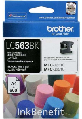 Картридж LC563 чёрный для Brother MFC-J2310, MFC-J2510 (600 стр.)