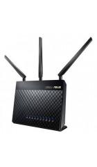 ASUS RT-AC68U, Dual-band Wi-Fi Роутер, 1300Mbps, 2.4GHz+5.1GHz, 802.11ac+4xLAN RG45 GBL+1xWAN GBL+1xUSB3.0+1xUSB2.0) 3x ext Antenna