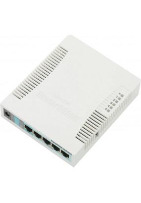 MikroTik RouterBOARD RB951G-2HnD, Wi-Fi Роутер, 2.4GHz, 802.11b/g/n, 5xGLAN, мощность передатчика 1 Вт, CPU Atheros AR9344 600 MHz