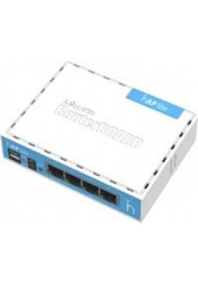 MikroTik RouterBOARD RB941-2nD (hAP Lite classic), Wi-Fi Роутер, 2.4GHz, 802.11b/g/n, MIMO 2х2, 4хLAN