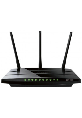 TP-LINK Archer C1200, AC1200 Dual-Band Wi-Fi Роутер гигабитный, Broadcom, 867Mbps at 5GHz + 300Mbps at 2.4GHz, 802.11ac/a/b/g/n, Beamforming, 1 Gigabit WAN + 4 Gigabit LAN, Wireless On/Off, 1 USB 2.0 ports, 3 fixed antennas