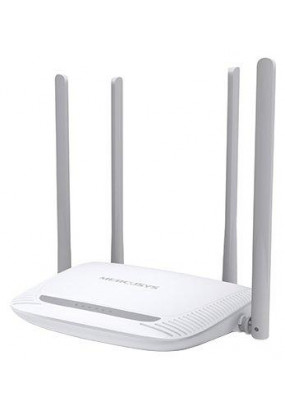 TP-LINK MERCUSYS MW325R, Wi-Fi Роутер, 300Mbps, Qualcomm, 2.4GHz, 802.11b/g/n, 100Mbps 4-port Switch, MIMO, 4 несъёмные антенны 5 dBi для покрытия Wi-Fi на площади до 500 м2