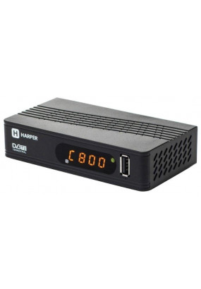 Ресивер DVB-T2 HARPER HDT2-1514 чёрный