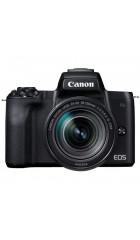 """Фотоаппарат Canon EOS M50 белый 24.1Mpix 3"""" 4K WiFi 18-150 IS STM LP-E12 (с объективом)"""