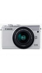 """Фотоаппарат Canon EOS M100 серебристый 24.2Mpix 3"""" 1080p WiFi 15-45 IS STM LP-E12 (с объективом)"""