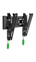 17-37'' Кронштейн ONKRON TM4 Наклонный, черный, макс 200*200 мм, наклон 15o, от стены 35-105 мм, макс вес 18.2 кг, встр уровень