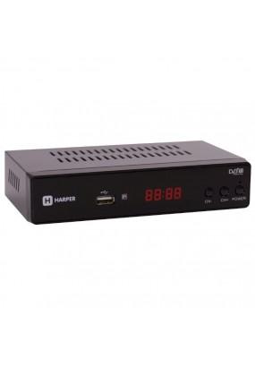 Ресивер DVB-T2 HARPER HDT2-5010 чёрный