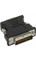 Конвертер DVI-D (папа) - D-SUB/VGA (мама), черный, Oem, Cablexpert A-DVI-VGA-BK
