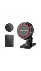 Автомобильный держатель Borofone BH13 Journey series center console, black&red