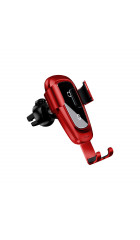Автомобильный держатель Baseus Metal Wireless Charger Gravity Car Mount(Air Outlet Version)Red