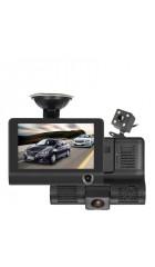 DVR Dixon R850, 3 камеры: 1920x1080/25 fps/160°, задняя 640x480/25 fps/120°, салонная 640x480/25 fps/120°, AVI (H.264), LCD 4.0