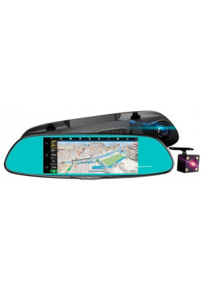 "DVR Dixon M9 (3 в 1: Авторег/Зеркало/Навигатор GPS (LCD 7.0"" 1024x480 IPS MultiTouch/CPU A33 4x1.3Ghz/RAM 1GB/16GB/3G/Wi-Fi/FM/Android 5.0), 2 камеры, 1920x1080/30 fps/170°, 1280x720p/30fps/120°, MOV (H.264 TS), G-sensor, USB, HDMI, microSD"